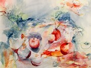 Mix Media Apples
